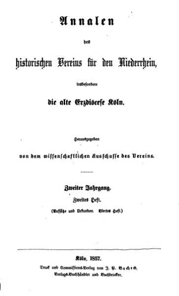File:Annalen des Historischen Vereins für den Niederrhein 04 (1857).djvu