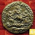 Anonimo, medaglia di giulio della rovere, post 1547, vergine tra due angeli.JPG