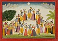 Anonymous - The Rasa Mandala Dance of Krishna and the Gopis, an illustration from book 10 of a Bhagavata Purana serie - 2001.138.36 - Yale University Art Gallery.jpg
