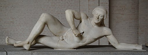 """Dying warrior"" - Pediment Sculpture from the Temple of Aphaia"