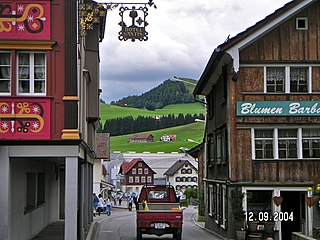Appenzell is the capital of the canton of Appenzell Innerrhoden in Switzerland.jpg
