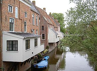 Appingedam - The hanging kitchens over the Damsterdiep