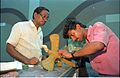 Archaeopteryx in Progress - Dinosaurs Alive Exhibition - Science City - Calcutta 1995-June 386.JPG