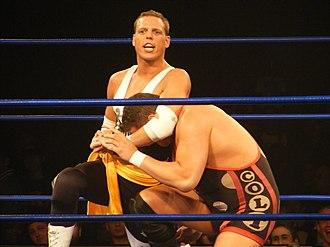Robert Evans (wrestler) - Evans performing a headlock on Colt Cabana