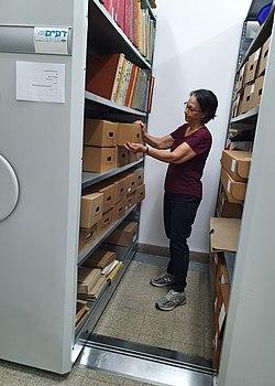Archivist at Kibbutz Lochamei Hagetaot.jpg