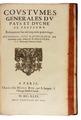 Argentré - Coustumes generales du Pays, 1646 - 017.tif