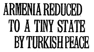 Turkish–Armenian War - An article from the New York Times, December 10, 1920