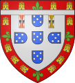 Arms of Prince Ferdinand of Aviz, duke of Viseu.svg