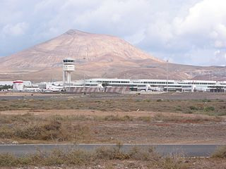 International airport in San Bartolomé, Canary Islands, Spain
