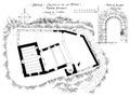 Arvier, castello de la mothe, pianta attuale lug 1936, fig 197, disegno nigra.tiff