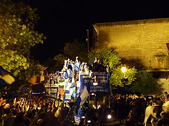 Xerez CD - Celebrating promotion to La Liga