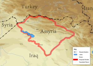 Assyrian homeland - The Assyrian populated area of northern Iraq, including Barwari, the Nahla valley, the Sapna valley, and the Nineveh Plains