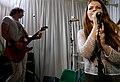 Astrid McDonald, with Jason Shapiro, Redd Kross at Room 205, 2012-11-29.jpg