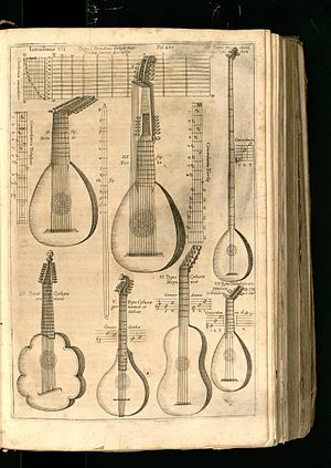 Plucked instruments from Athanasius Kircher's Musurgia universalis