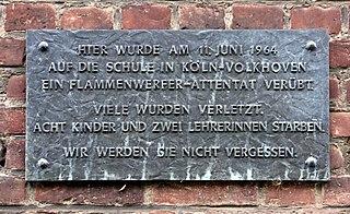 Cologne school massacre June 1964 school massacre in Cologne, North Rhine-Westphalia, West Germany