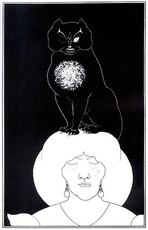 "The Black Cat (short story) - Illustration for ""The Black Cat"" by Aubrey Beardsley (1894–1895)"