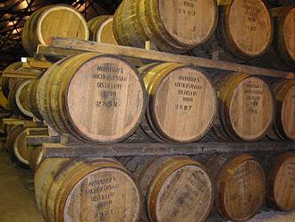 Auchentoshan distillery - Barrels in Auchentoshan distillery