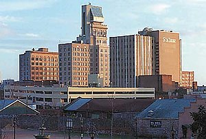 Lamar Building - The Lamar Building is the tallest building in this picture of the downtown Augusta skyline.