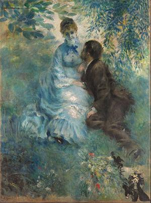 La Promenade (Renoir) - The Lovers (1875)
