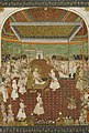 Aurangzeb enthroned in a darbar scene.jpg