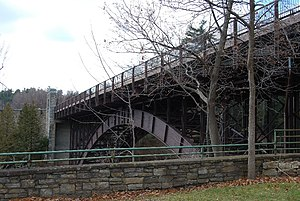 National Register of Historic Places listings in Clinton County, New York - Image: Ausable Chasm Bridge