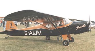 Auster J/4 - Auster J/4 at PFA Rally held at Cranfield, Bedfordshire, in July 1989