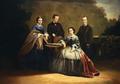 Auto-retrato em família (D. António e D. José de Saldanha Oliveira e Sousa e D. Maria Isabel d'Anunciação) - por Teresa de Saldanha.png