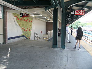 Avenue J (BMT Brighton Line) - Image: Avenue J Exit