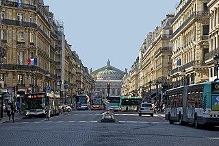Avenue de lOpéra avenue in Paris, France