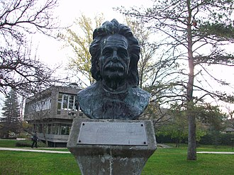 Middle East Technical University - Bust of Albert Einstein, one in a series of influential scientists' busts on the METU main campus.