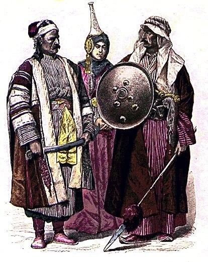 B) Syria - Belka, Woman from Damascus, Arab from Baghdad