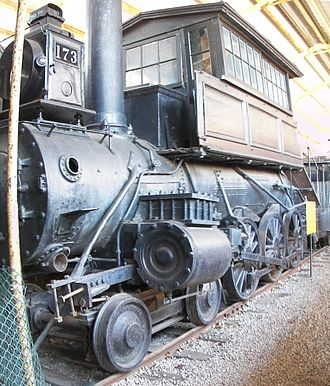 Camelback locomotive - Image: B+O 173 camelback locomotive