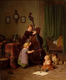 Böttcher, Christian Eduard -The Music Lesson - 1860.jpg