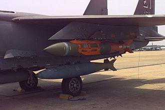 BLU-109 bomb - A BLU-109 aboard an F-15E Strike Eagle configured as a JDAM
