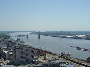 Interstate 10 crossing the Mississippi River