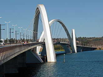 Juscelino Kubitschek bridge - Ground view of the JK Bridge.