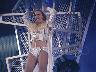"Hold It Against Me - Spears Performing ""Hold It Against Me"" at the Femme Fatale Tour."