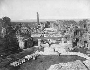 Archaeology of Lebanon - Overview of Baalbek in the late 19th century