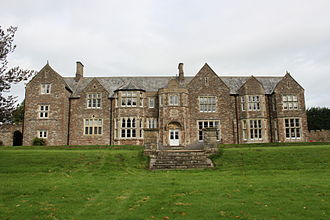 Sutton Court - The rear façade remodelled by Thomas Henry Wyatt in 1858