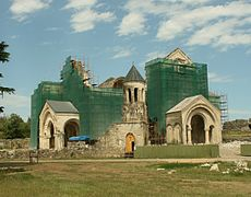 Bagrati cathedral under reconstruction (Photo A. Muhranoff, 2010).jpg