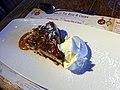 Baked chocolate, caramel & walnut cheesecake (GOC Kings Langley Xmas 2012 098) (8291197807).jpg