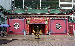 Ethnic Chinese in Brunei - Chinese temple in Bandar Seri Begawan.