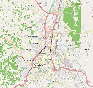 Banjaluka streetmap
