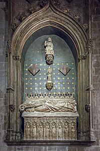 Barcelona Cathedral Interior - Chapel of the Saint Innocents - Tomb of Bishop Ramón de Escales by Antoni Canet.jpg