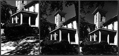 Trois vues de la maison Bashford