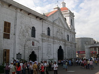 "Cebu - The Basílica Menor del Santo Niño in Cebu, the first church built in the Philippines. Named by the Holy See as the ""Mother and Head... of all Churches of the Philippine Islands""."