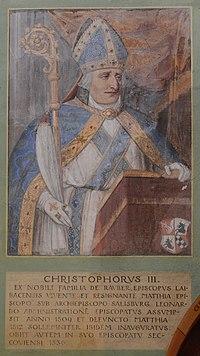 Basilika Seckau, Bischofskapelle, Halbfigurenportrait Bischof Christophorus III. Rauber.jpg