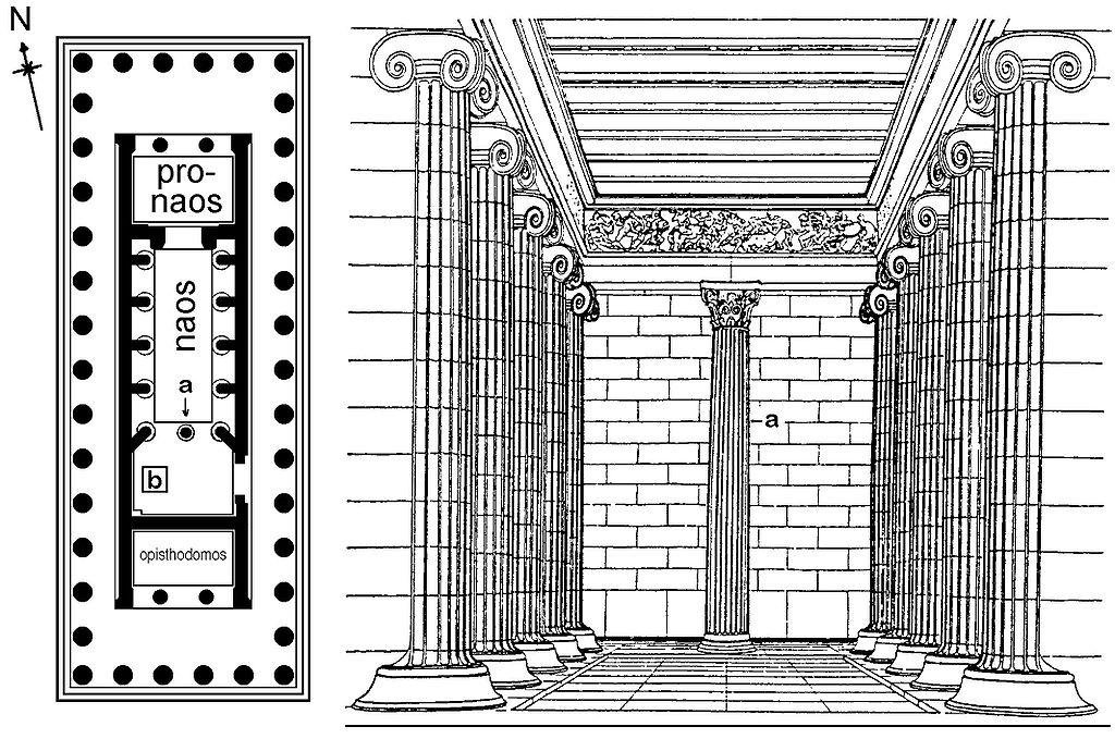 Planta y alzado de la fachada de el parten n atenas - Alzado arquitectura ...