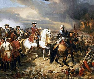 Maurice de Saxe - Battle of Lawfeld, 2 July 1747 : Louis XV pointing out the village of Lawfeld to Maurice