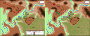 "Battle of the Sabis - Battlefield if the ""Sabis"" matches the Sambre."